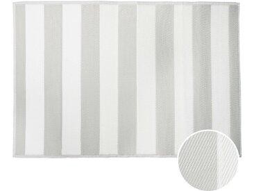 Butlers - COLOUR CLASH In- & Outdoor-Teppich Streifen L 180 x B 120cm - Grau