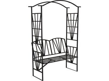 Rosenbogen mit Sitzbank 210 cm