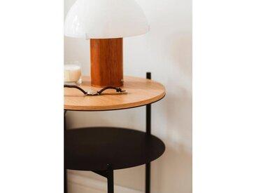Nachttisch Eiche | Beistelltisch Eiche | ⌀ 40 cm