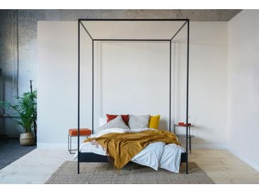 Metallbed | Himmelbett 140-200 cm | Lattenrosten optional