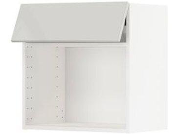 IKEA METOD Wandschrank für Mikrowellenherd weiß/Ringhult hellgrau