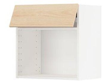 IKEA METOD Wandschrank für Mikrowellenherd weiß/Askersund Eschenachbildung hell