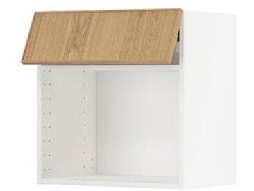 IKEA METOD Wandschrank für Mikrowellenherd weiß/Ekestad Eiche