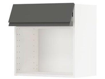 IKEA METOD Wandschrank für Mikrowellenherd weiß/Voxtorp dunkelgrau