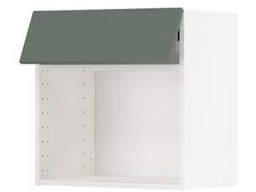 IKEA METOD Wandschrank für Mikrowellenherd weiß/Bodarp graugrün