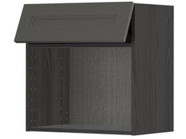 IKEA METOD Wandschrank für Mikrowellenherd schwarz/Axstad dunkelgrau