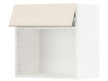 IKEA METOD Wandschrank für Mikrowellenherd weiß/Bodbyn elfenbeinweiß