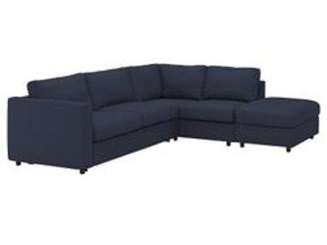 IKEA VIMLE Bezug für 4er-Eckbettsofa ohne Abschluss/Orrsta schwarzblau Ohne abschluss/orrsta schwarzblau