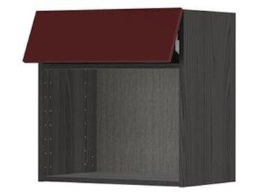 IKEA METOD Wandschrank für Mikrowellenherd schwarz Kallarp/Hochglanz dunkel rotbraun
