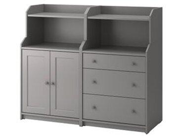 IKEA HAUGA Aufbewahrungskombi grau 139x46x116 cm