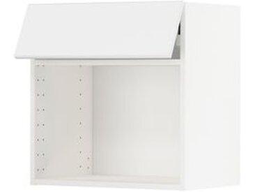 IKEA METOD Wandschrank für Mikrowellenherd weiß/Kungsbacka matt weiß