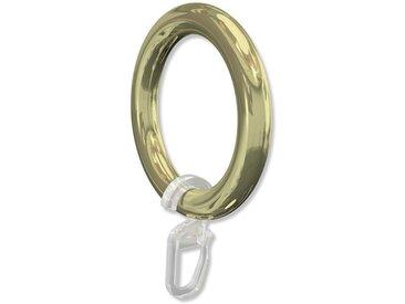 Gardinenringe / Kunststoff Ringe Messing für 28 mm Vorhangstangen 10 Stück
