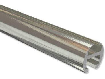 Gardinenstangen Innenlauf Edelstahl-Optik in 16 mm 100 cm