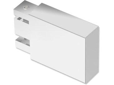 Endstücke Lox (Quader) Chrom für 14x35 mm Innenlaufstangen (Set 2 Stück)