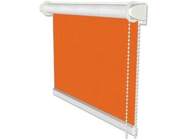 Klemmfix Verdunkelungsrollo / Thermorollo mit Seitenzug in Orange - Seitenzugrollo 41,5x175 cm