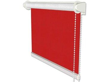 Klemmfix Thermorollo / Seitenzugrollo in Rot - Verdunkelungsrollo 41,5x175 cm