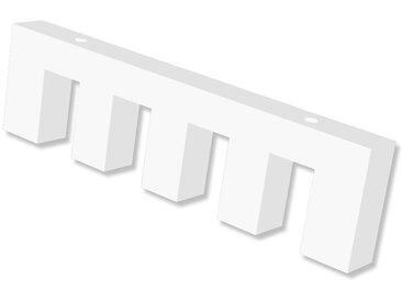 Deckenträger / Deckenhalterung 4-läufig Weiß 1 cm Smartline für 14x35 mm Innenlaufstangen