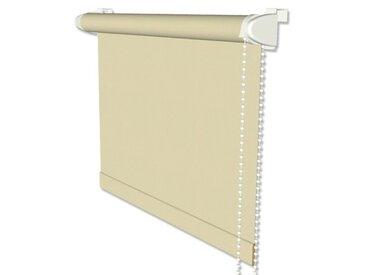 Klemmfix-Rollos / Thermorollos mit Seitenzug in Beige - Verdunkelungsrollos 41,5x175 cm