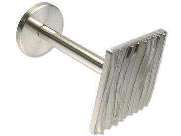 Raffhalter / Schalhalter Ganto - Struktur für Gardinen 8 cm Edelstahl-Optik