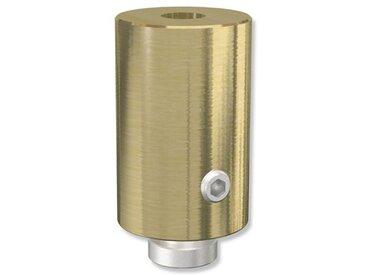 Deckenträger / Deckenhalterung Messing-Optik 2,5 Sonius für 20 mm Innenlaufstangen (Set 2 Stück)