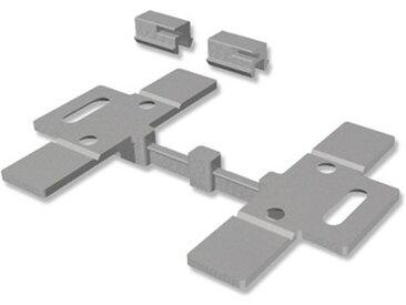 Deckenclipse / Deckenträger für Gardinenschienen Slimline Silbergrau