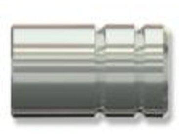 Vorhangstangen Endstück Pandora (Rillenzylinder) Edelstahl für 12 mm (Set 2 Stück)