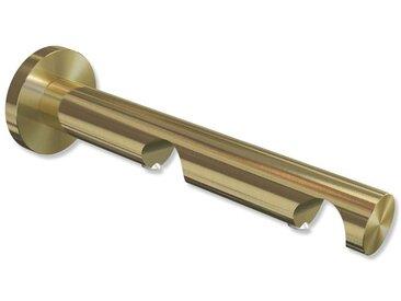 Träger / Halterung 2-läufig Messing-Optik 7,5 / 14,5 cm Platon für 20 mm Vorhangstangen