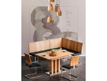 Ess-Tisch »Tina«, 130x77x90 cm (BxHxT), Places of Style, Material Metall, Edelstahl, Wildeiche