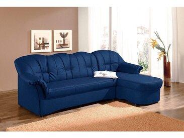 DOMO collection  Eck-Couch, mit Bettfunktion, Récamiere rechts oder links, FSC®-zertifiziert, blau, Material Kunststoff, 235 cm, ab 60 cm, 41 cm, 51 cm, mit Schlaffunktion, frei stellbar