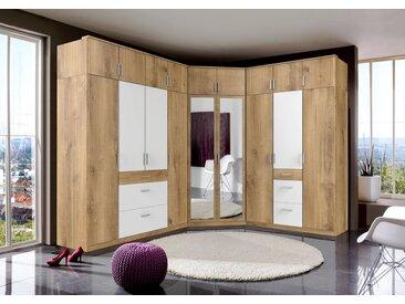 Kleider-Schrank »Click«, 135x199x58 cm (BxHxT), WIMEX, beige, Material Metall, mit Schubkästen