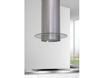 Inselhaube, 60x125x60 cm (BxHxT), Energieeffizienzklasse B, Hanseatic, Material Edelstahl, Glas, spülmaschinenfest