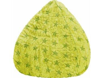 Sitz-Sack  »Fluffy Stars XL«, grün, Material Polystyrol / Polyester, Sitting Point