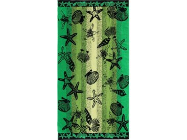 Strandhandtuch   »Seestern«, grün, Material Baumwolle, Gözze, unifarben, Motiv