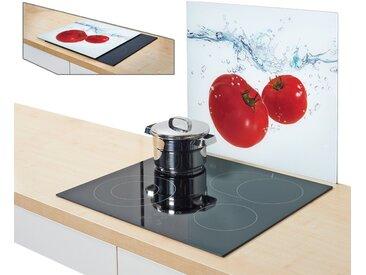 Abdeckplatte, weiß, Material Glas »Tomato Splash«, Zeller Present
