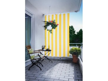 Balkonsichtschutz, 140x140x230 cm (BxLxH), Floracord, gelb, Material Polyacryl, gestreift