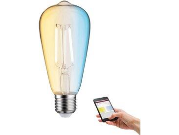 LED Leuchtmittel »Zigbee ST64 7W E27 2.200 - 6.500K TunableWhite«, transparent, Paulmann