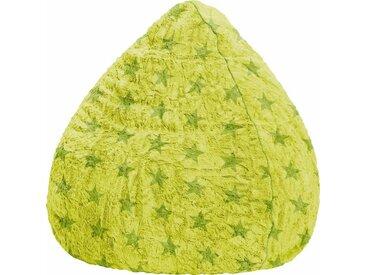 Sitz-Sack  »Fluffy Stars L«, grün, Material Polystyrol / Polyester, Sitting Point
