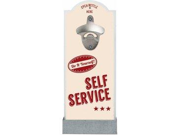 Flaschenöffner , bunt, »Self Service«, Contento