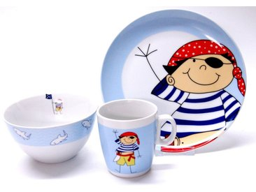 Kindergeschirr-Set, mehrfarbig, Material Porzellan »Pirat«, Retsch Arzberg, Motiv, spülmaschinengeeignet