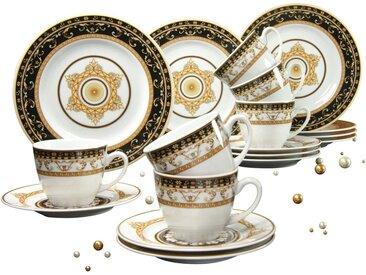 Kaffeeservice, weiß »Majestosa«, CreaTable, Gemustert, spülmaschinenfest