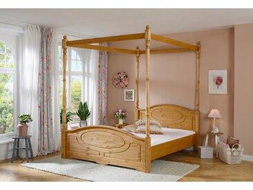 Home affaire  Holz-Bett , Landhaus-Stil, beige »Mila«