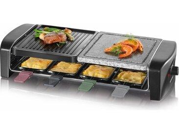 Severin Raclette-Grill RG 9645, 8 Raclettepfännchen, 1400 W, Raclette Pfännchen mit farbigen Griffen