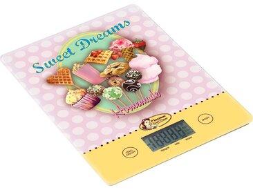 Küchenwaage , rosa, Material Glas / Kunststoff »Sweet Dreams«, bestron
