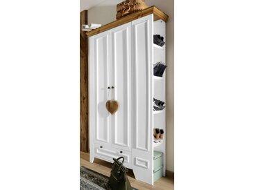 Garderoben-Schrank  aus massiver Kiefer »Skandinavia«, FSC®-zertifiziert, weiß, Material Massivholz