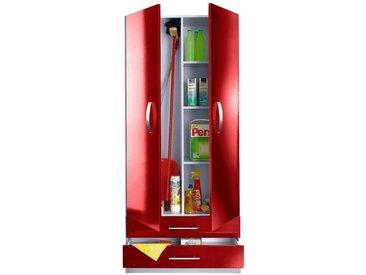 Mehrzweckschrank »Amrum«, 80x180x35 cm (BxHxT), wiho Küchen, rot, Material Holzwerkstoff, Metall, Kunststoff