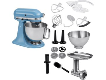 Küchenmaschine Artisan 5KSM175PSEVB mit Gratis Ganzmetall Fleischwolf, blau, KitchenAid
