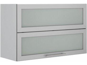 Faltlifthängeschrank, grau »Ela«, wiho Küchen, Soft-Close-Funktion