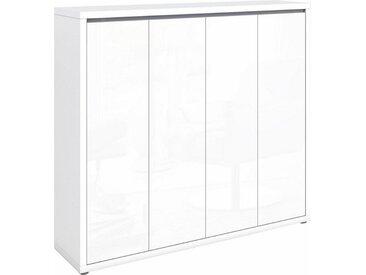 HMW Schuhkommode »Spazio«, 133,5x34x120 cm, FSC®-zertifiziert, weiß