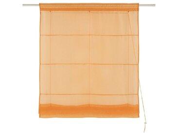 my home Bändchenrollo  »Xana«, H/B: 155/80 cm, orange, Material Stoff / Voile