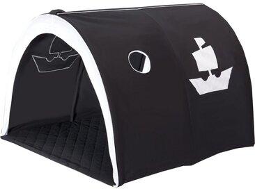 Spiel-Tunnel  »Pirat«, schwarz, Material Stoff / Baumwolle, Hoppekids
